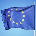 European Union Flag in the Wind